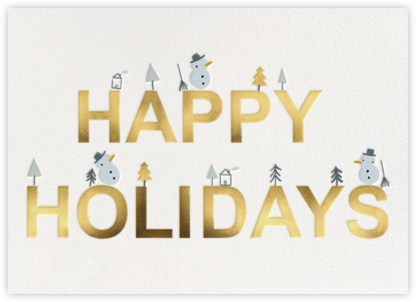 Snowman's Land - Little Cube - Holiday Cards