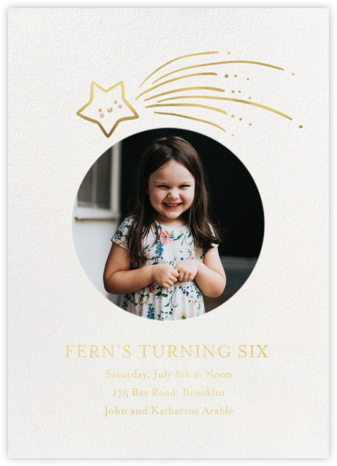 Star Treatment Photo - Little Cube - Online Kids' Birthday Invitations