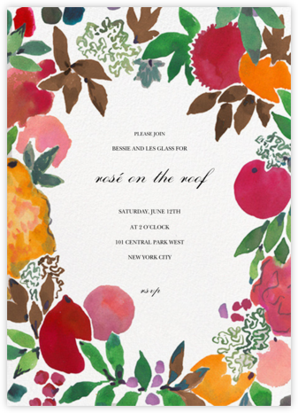 Grande Grenade - Happy Menocal - Autumn entertaining invitations