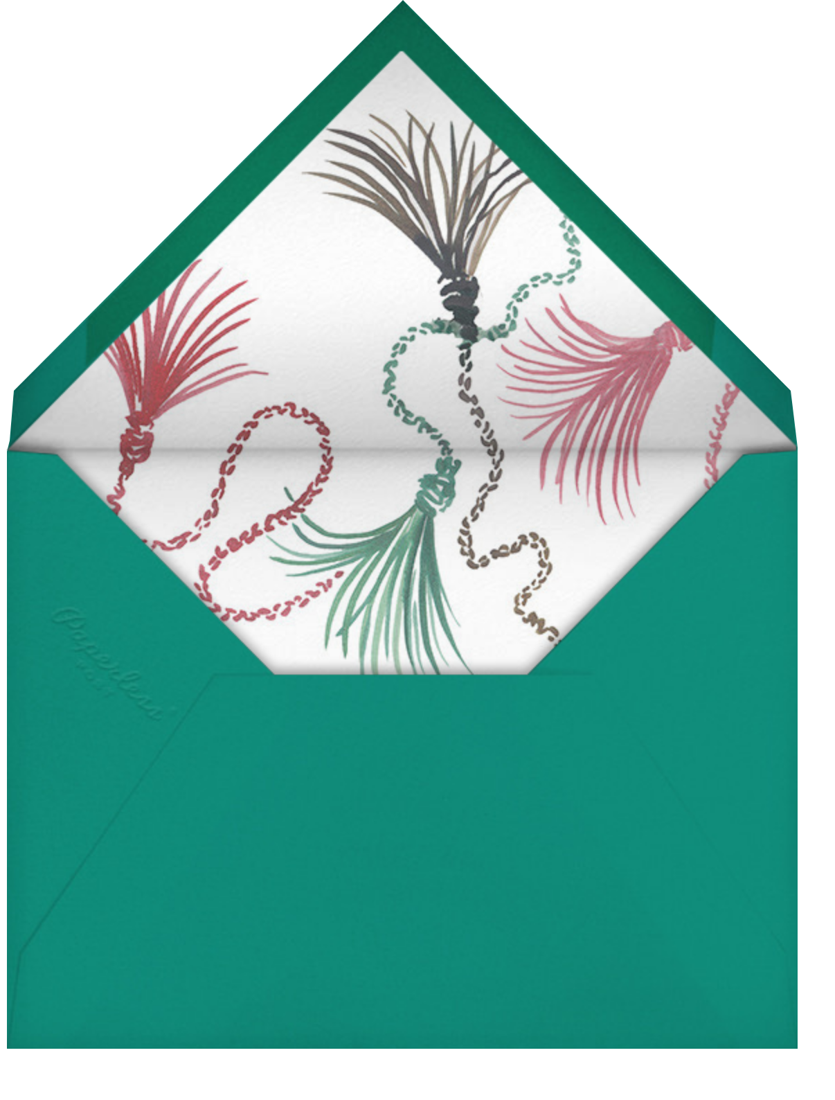 Fan Dance - Happy Menocal - Holiday party - envelope back