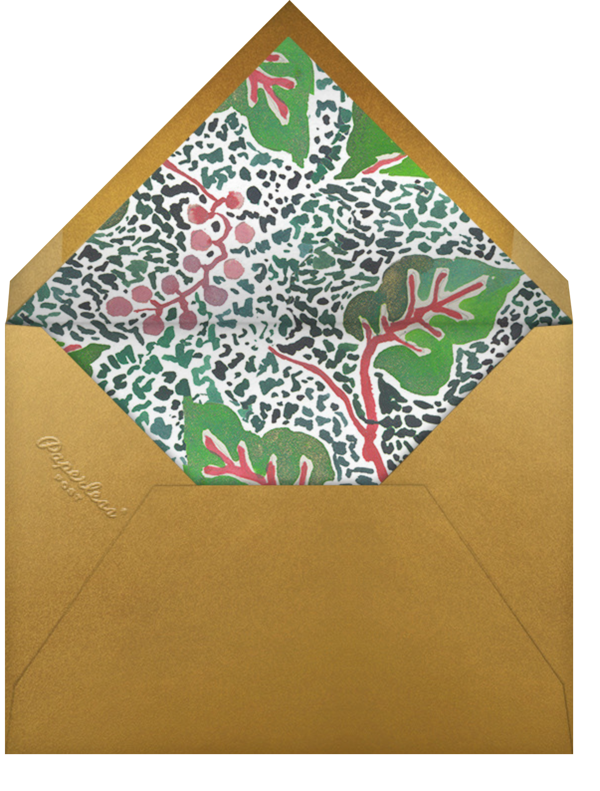 Stag Setting - Happy Menocal - Winter entertaining - envelope back