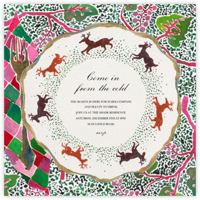Stag Setting - Happy Menocal - Winter Party Invitations