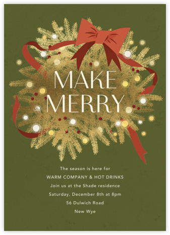 Twinkling and Tangled - Paperless Post - Holiday party invitations