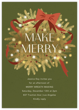 Twinkling and Tangled - Paperless Post - Holiday Invitation Templates