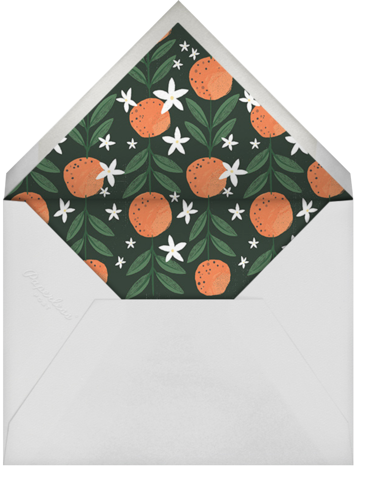 A L'Orange - Paperless Post - Holiday party - envelope back