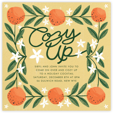 A L'Orange - Paperless Post - Holiday invitations