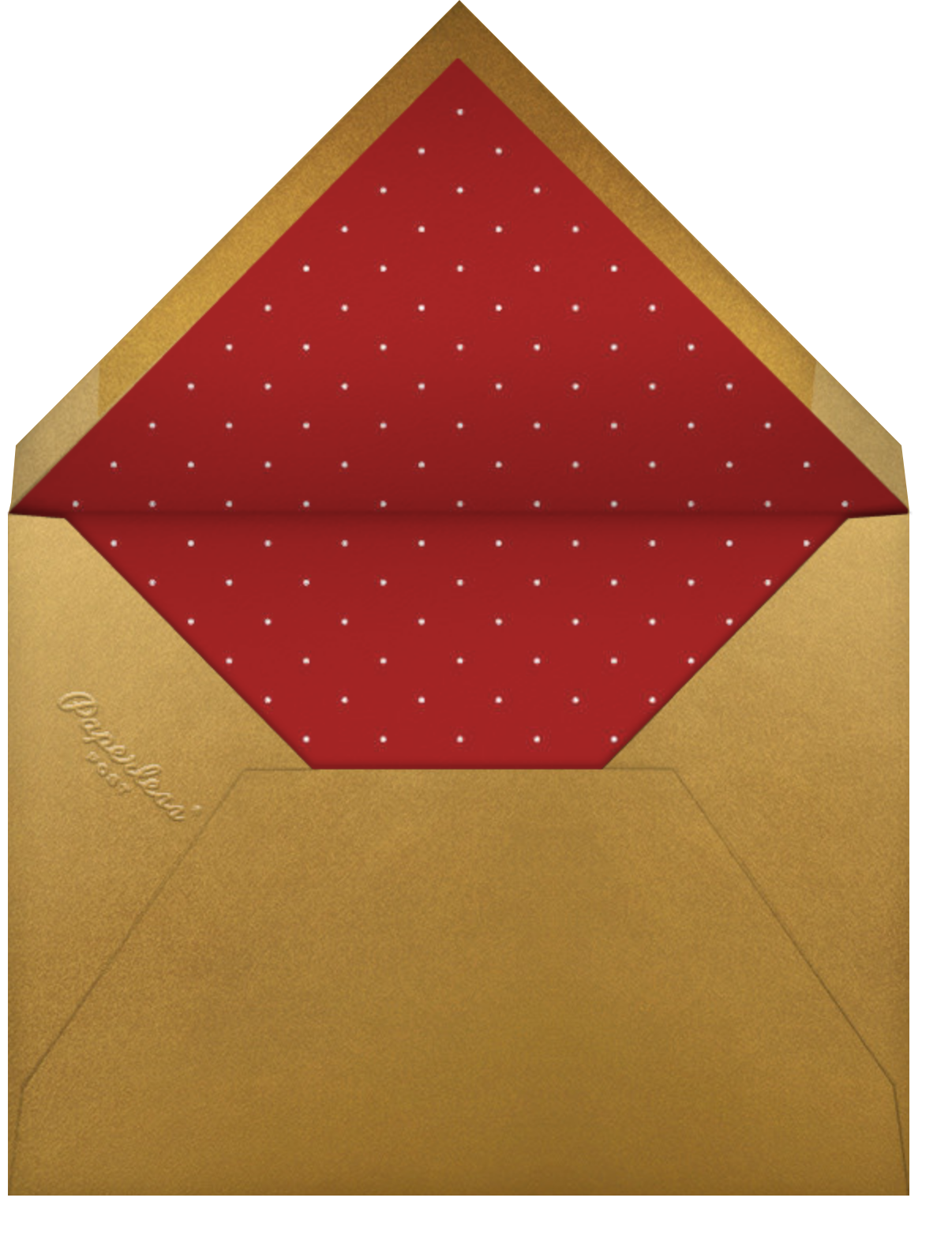 Holiday Drape - Paperless Post - Christmas party - envelope back