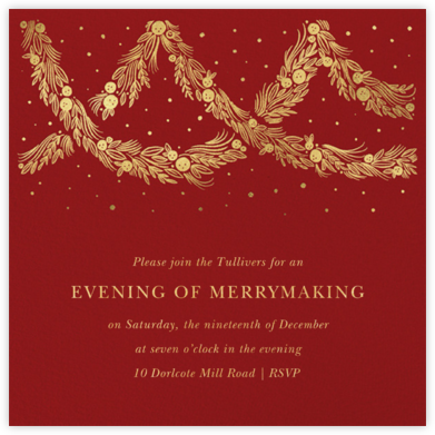 Holiday Drape - Paperless Post - Holiday party invitations