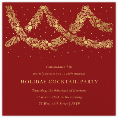 Holiday Drape - Paperless Post - Company holiday party