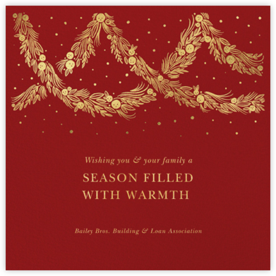 Holiday Drape - Paperless Post - Business holiday cards