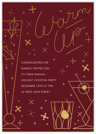 Winter Warmer - Paperless Post - Company holiday party