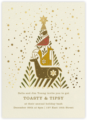 Holiday Totem - Paperless Post - Holiday invitations