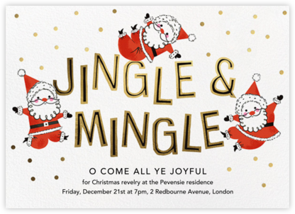 Mingling Kringles - Paperless Post - Christmas invitations