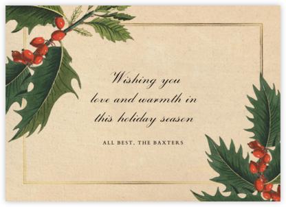 Aquifolium - John Derian - Holiday Cards
