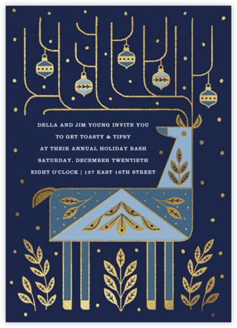 Folk Reindeer - Blue - Paperless Post -