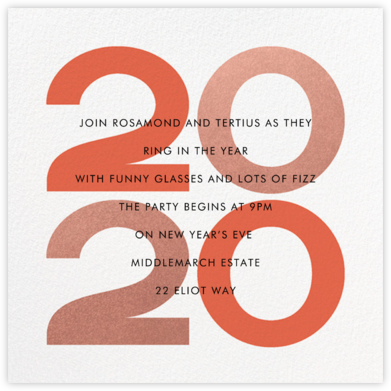A Peachy New Year - Paperless Post - New Year's Eve Invitations