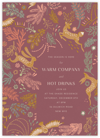 Folk Tails - Puce - Anthropologie - Invitations