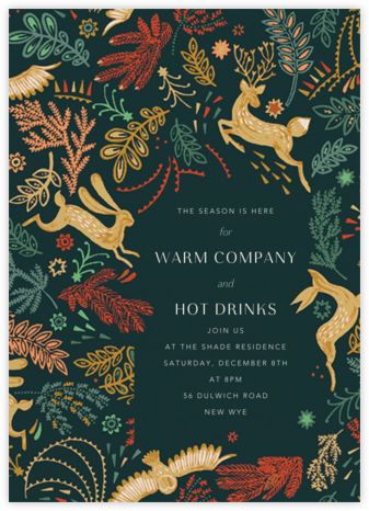 Folk Tails - Spruce - Anthropologie - Winter Party Invitations