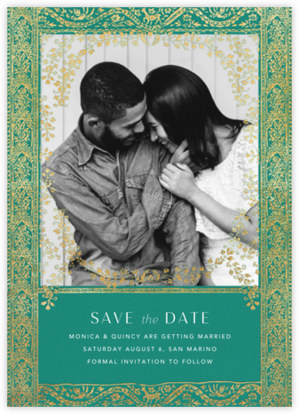Gilt Toran - Amazon - Anthropologie - Save the dates