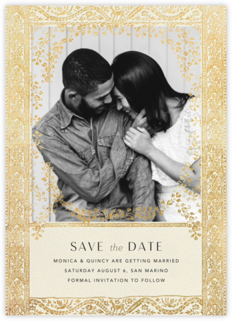 Gilt Toran - Cream - Anthropologie - Indian Wedding Cards