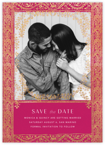 Gilt Toran - Dragonfruit - Anthropologie - Indian Wedding Cards