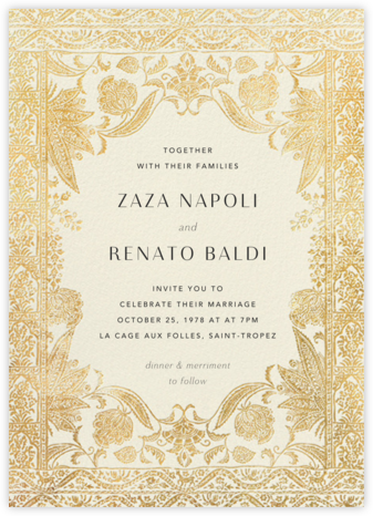 Hotel Udaipur - Cream - Anthropologie - Wedding invitations