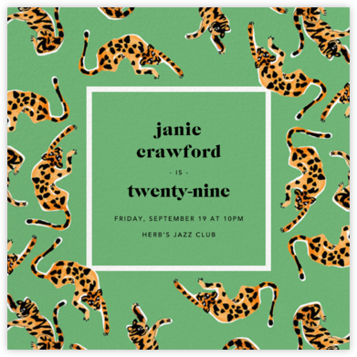 It's a Jungle Out There - Green - Anthropologie - Invitations