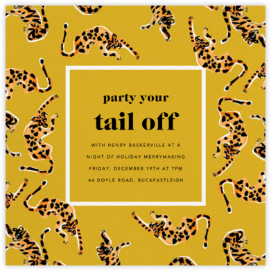It's a Jungle Out There - Paella - Anthropologie - Holiday invitations