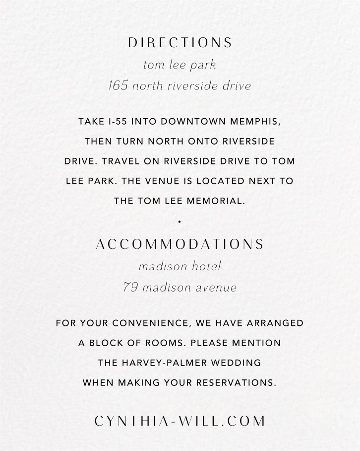 Moor Heather (Invitation) - Anthropologie - All - insert front