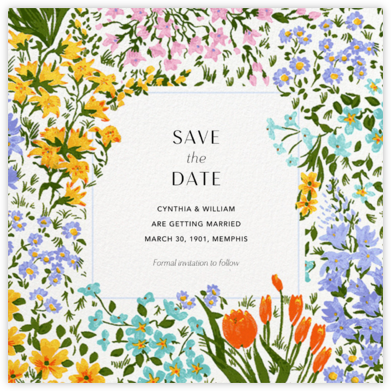 Moor Heather (Square) - Anthropologie - Save the dates
