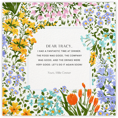 Moor Heather (Square) - Anthropologie - Online Thank You Cards