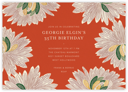 Mumsy - Longhorn - Anthropologie - Adult Birthday Invitations