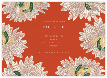 Mumsy - Longhorn - Anthropologie - Autumn entertaining invitations
