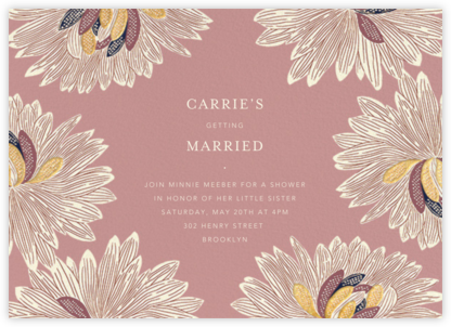 Mumsy - Tea Rose - Anthropologie - Bridal shower invitations