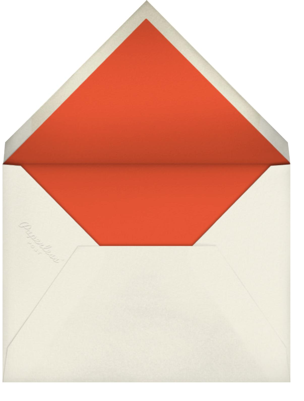 Petit Jardin - Sherbet - Anthropologie - Baby shower - envelope back