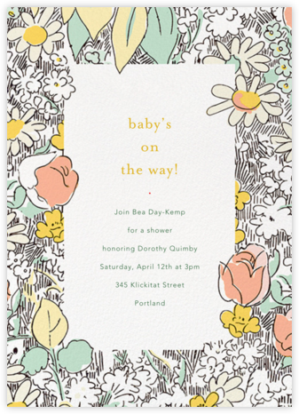 Petit Jardin - Sherbet - Anthropologie - Baby Shower Invitations