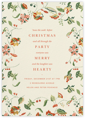 Sloane Street - Cream - Anthropologie - Winter Party Invitations