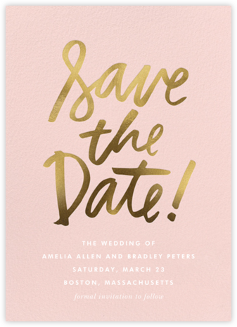 Signature Save the Date | tall