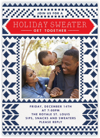 Sweater Together - Cheree Berry - Holiday invitations