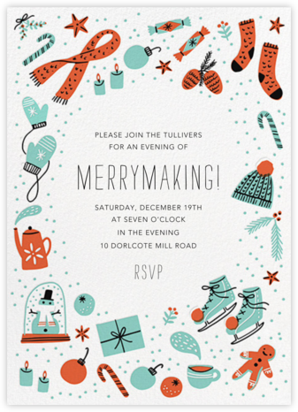 Chillout Accessories - Hello!Lucky - Winter entertaining invitations