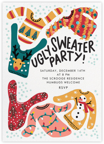 Knit's Hideous - Hello!Lucky - Holiday party invitations