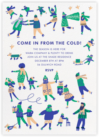 Rinkydink Holiday - Hello!Lucky - Winter Party Invitations