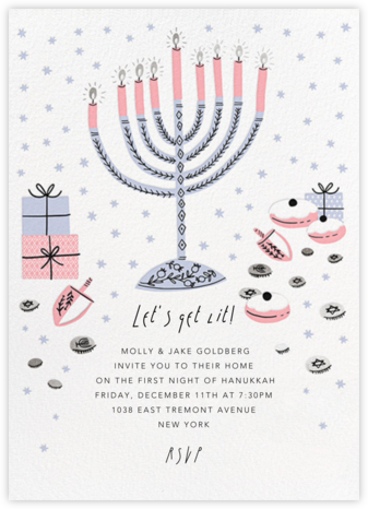 Under the Menorah Branches - Hello!Lucky - Hanukkah Invitations