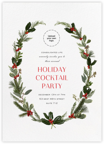 Fleurs de Noel - Paperless Post - Professional party invitations and cards