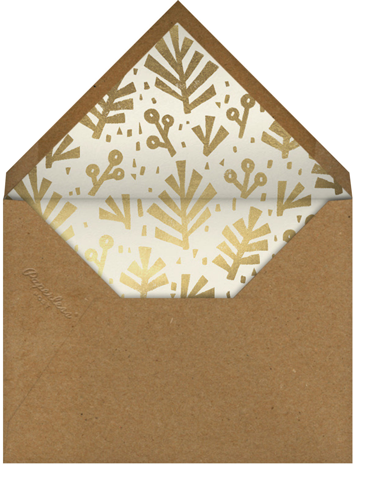 Cutout Fauna - Paperless Post - Company holiday cards - envelope back