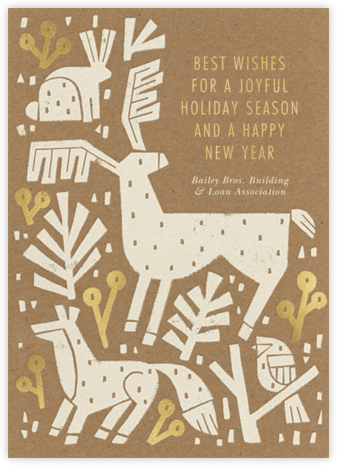 Cutout Fauna - Paperless Post - Company holiday cards