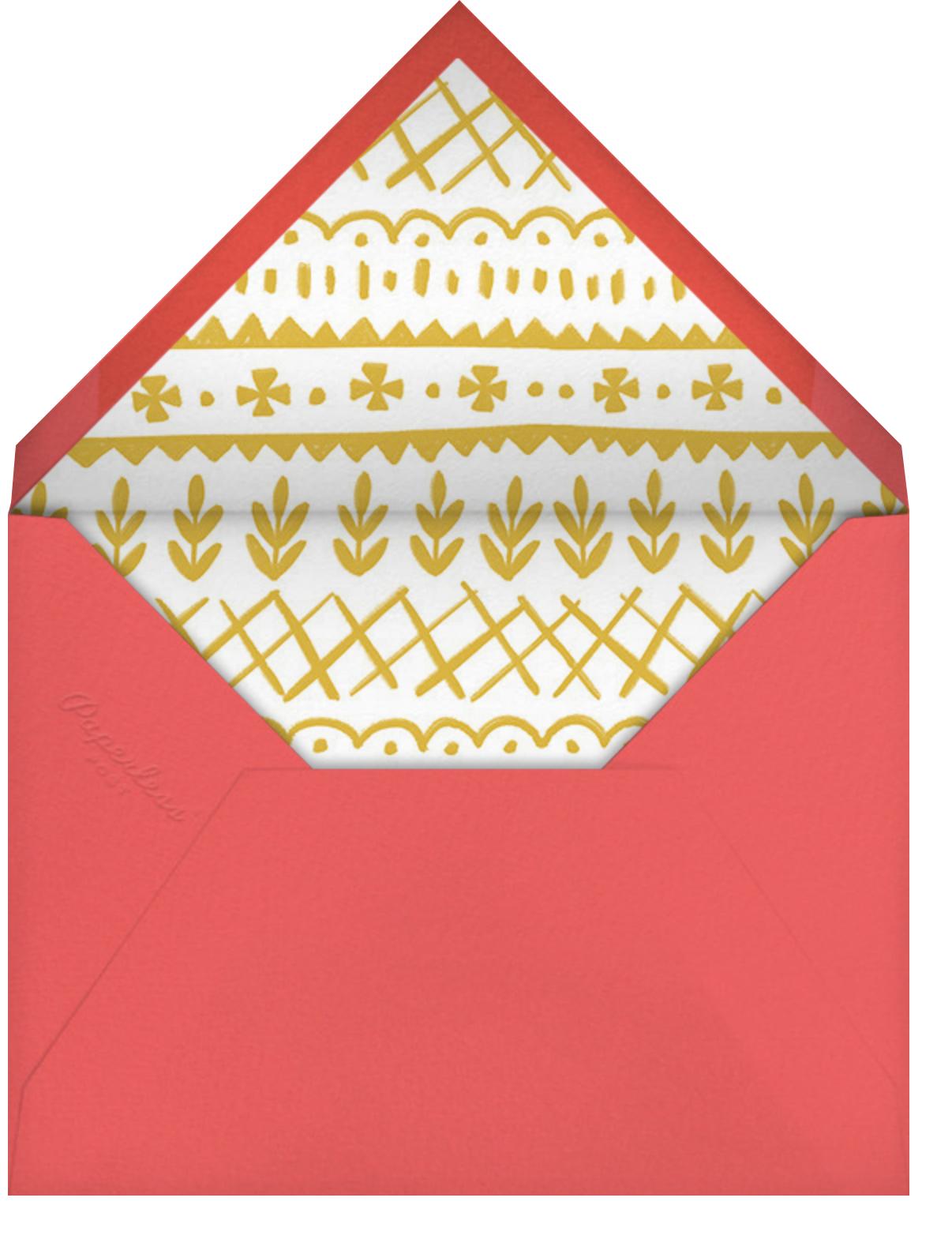 Holiday Mugshots - Paperless Post - Christmas party - envelope back