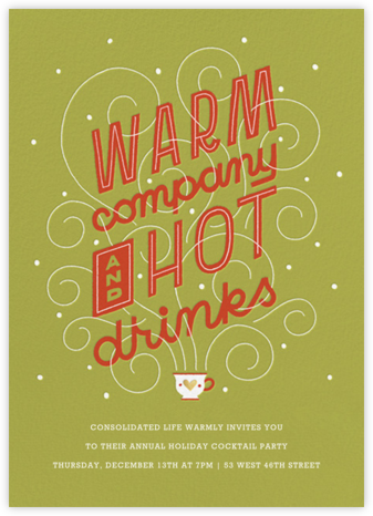Hot Cuppa Holiday - Chartreuse - Paperless Post - Company holiday party