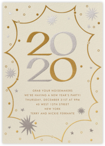New Year's Kapow - Paperless Post - New Year's Eve Invitations