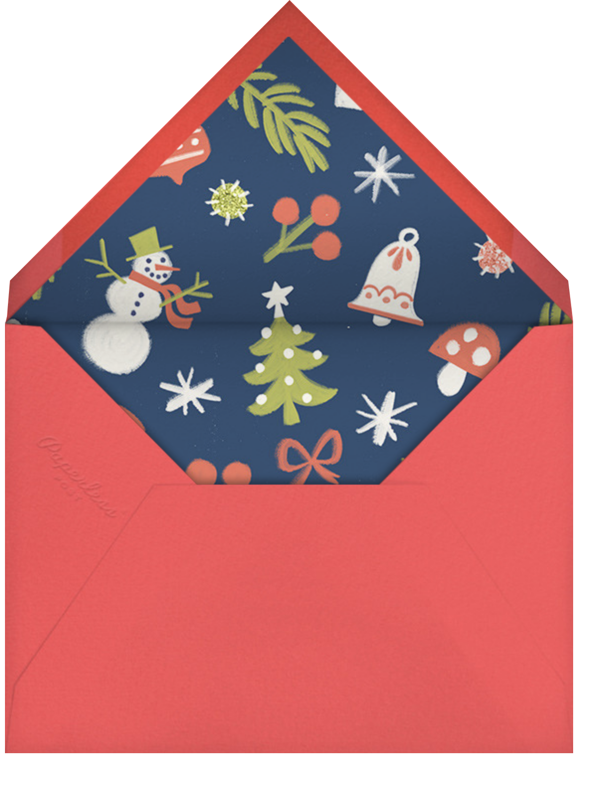 Hideously Holiday - Paperless Post - Christmas party - envelope back